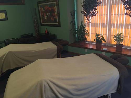 Couples massage room at Relax Blacksburg in Blacksburg, Virginia